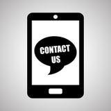 Smartphone-ontwerp, contact en technologieconcept, editable vector Royalty-vrije Stock Foto