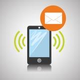 Smartphone-ontwerp, contact en technologieconcept, editable vector Royalty-vrije Stock Foto's