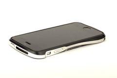 Smartphone op witte achtergrond Stock Foto