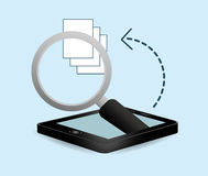 Smartphone optimization and tuning data center Royalty Free Stock Photography