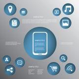 Smartphone ou vecteur d'infographics de comprimé Photo stock