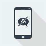Smartphone Płaski projekt Obrazy Royalty Free