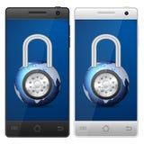 Smartphone padlock Royalty Free Stock Photo
