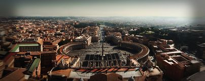 Smartphone Panoramic Stitch of Vatican City Royalty Free Stock Images