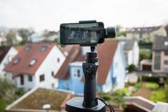 Smartphone panoramy wideo ustawianie zdjęcie royalty free
