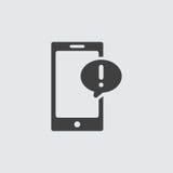 Smartphone-pictogramillustratie Royalty-vrije Stock Afbeeldingen