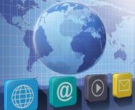 Smartphone-pictogrammen Royalty-vrije Stock Afbeelding