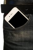 Smartphone in the pocket of jeans Royalty Free Stock Image