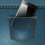 Smartphone and pocket Royalty Free Stock Image