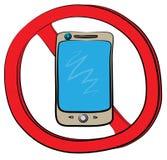 Smartphone pozwolić znak Fotografia Stock