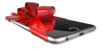 Smartphone present Royalty Free Stock Images