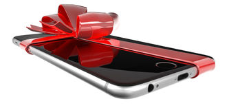 Smartphone present Royalty Free Stock Photography