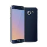 Smartphone preto Fotografia de Stock