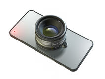 Smartphone professional camera dslr Stock Photo