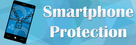 Smartphone Protection Banner Stock Photo