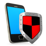 Smartphone Shield Royalty Free Stock Image
