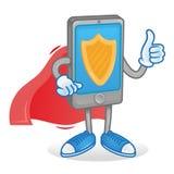 Smartphone protegido ilustración del vector
