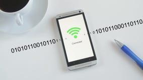 Smartphone que conecta a WiFi ilustração stock