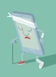 Smartphone quebrado Foto de Stock Royalty Free