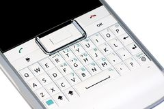 Smartphone qwerty keyboard Royalty Free Stock Images