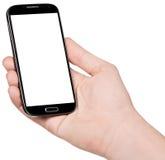 Smartphone räcker in Arkivbild