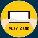 Smartphone ręki sztuki gra Obrazy Royalty Free