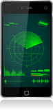 Smartphone radar Royalty Free Stock Images