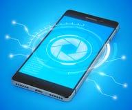 Smartphone realistiska Ui Arkivbild