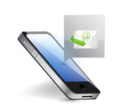 Smartphone receiving mail illustration design Royalty Free Stock Image