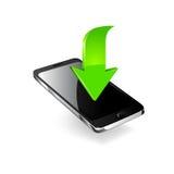 Smartphone redigerbar vektormapp Fotografering för Bildbyråer
