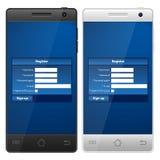 Smartphone register Stock Photos
