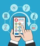 Smartphone remote medical care Stock Photo