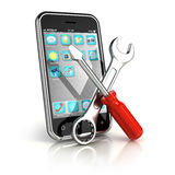 Smartphone repair. Icon - 3d render royalty free illustration