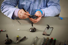 Smartphone repair Royalty Free Stock Photography