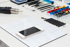 Smartphone repair Royalty Free Stock Images