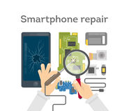 Smartphone repair work. Stock Photography