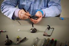 Smartphone-reparatie Royalty-vrije Stock Fotografie