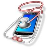 Smartphone-reparatieblauw Stock Foto's