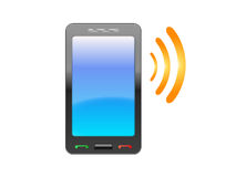 Smartphone ringing Stock Images