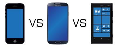 Smartphone-rivalen Vector Illustratie