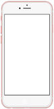 Smartphone-rosegold mit dem leeren Bildschirm, lokalisiert auf weißem Hintergrund Lizenzfreies Stockbild