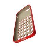 Smartphone rosso della copertura su bianco illustrazione 3D Immagine Stock Libera da Diritti