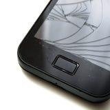 Smartphone roto Fotografía de archivo libre de regalías
