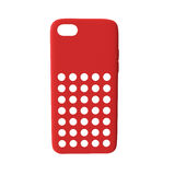 Smartphone rouge de couverture sur le blanc Front View illustration 3D Photo libre de droits