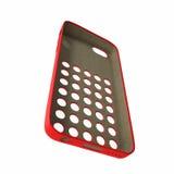 Smartphone rouge de couverture sur le blanc illustration 3D Image libre de droits