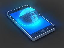 Smartphone säkerhet Arkivfoton