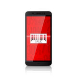 Smartphone scanning barcode Royalty Free Stock Photos