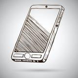 Smartphone-schets. Vectorillustratie Royalty-vrije Stock Foto's