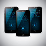 Smartphone-Schnittstellenhintergrundthema-Vektordesign Lizenzfreie Stockbilder