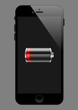 Smartphone-schwache Batterie lizenzfreie stockbilder